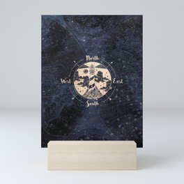 Compass World Star Map Mini Art Print