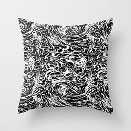 BLACK HUFF Throw Pillow