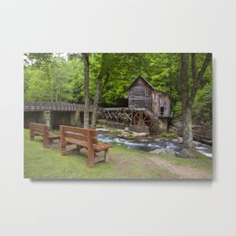 Glade Creek Grist Mill In Summer Metal Print