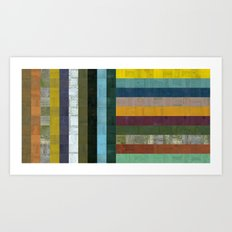 Wooden Abstract Vl Art Print