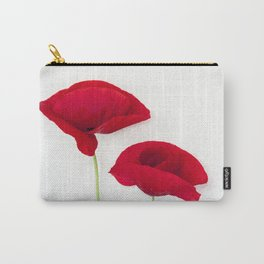Two Red Poppies Carry-All Pouch
