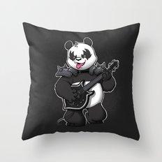 Heavy Metal Panda Throw Pillow