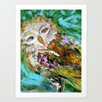 hedwig Art Prints featuring Hedwig by Karen Tarlton