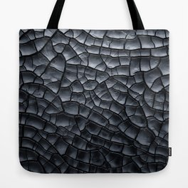 Gothic texture | Black and grey texture | Cracked design Tote Bag