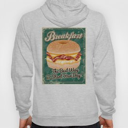 Retro Breakfast Sandwich Sign Hoody