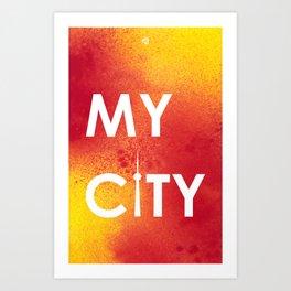 MyCity-Toronto-RedYellowA Art Print