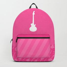 Pink Punk Guitar Backpack