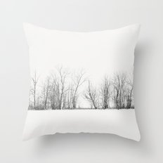 Pure Winter Throw Pillow