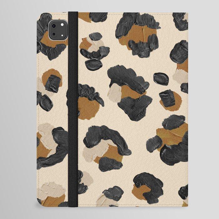 Leopard Print – Neutral Gold Light Palette iPad Folio Case