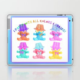 I Party With All Colors & Shades Laptop & iPad Skin