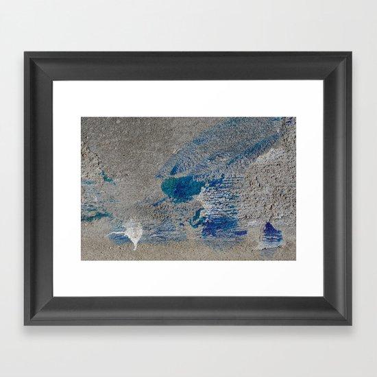 Spilled Paint Framed Art Print