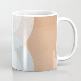 Waterdrops meeting in a simple almost cubist minimal art Coffee Mug