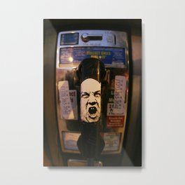 Hollywood Phonebooth Metal Print