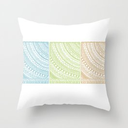 Weaved Elements I Throw Pillow