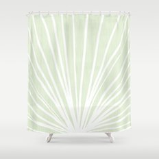 Dandelions in Mint by Friztin Shower Curtain