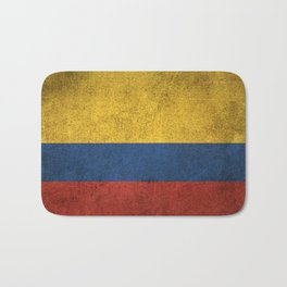 Old and Worn Distressed Vintage Flag of Colombia Bath Mat