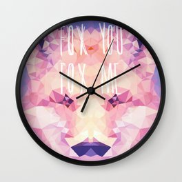 Fox You, Fox Me Wall Clock