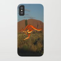 kangaroo iPhone & iPod Cases featuring Kangaroo by Knot Your World
