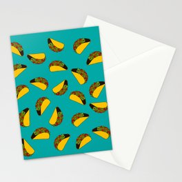 Flock of Gerrys Teal Taco Print Stationery Cards