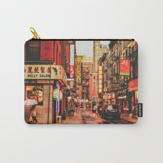 New York City Rain in Chinatown Carry-All Pouch