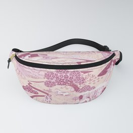 Mythical Creatures Toile in Peachy Pink Raspberry colors Fanny Pack