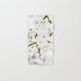 White blooming Hand & Bath Towel