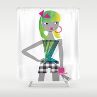 teen titans Shower Curtains featuring Teen by Mrwilliam Draw