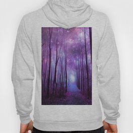 Fantasy Forest Path Purple Pink Hoody