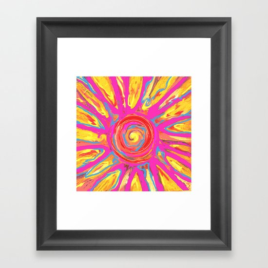 Alien Sun Framed Art Print