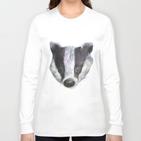 badger Long Sleeve T-shirts featuring Badger! by Alison Jacobs