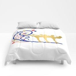 Gold Silhouette Synchro Team Graphic Design Comforters