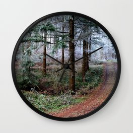 the red forest crossing Wall Clock