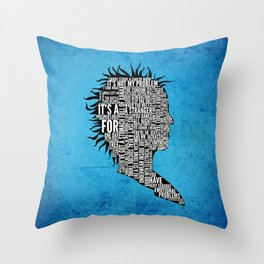 Typography Marla Singer Throw Pillow