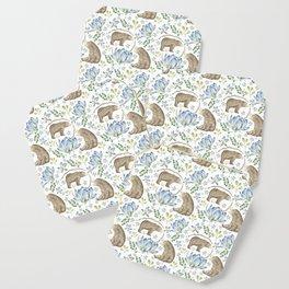 Bears in Blue Flowers Coaster