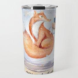 Christmas fox #1 Travel Mug