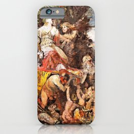 Hans Makart - Triumph of Diana with Bacchus - Digital Remastered Edition iPhone Case