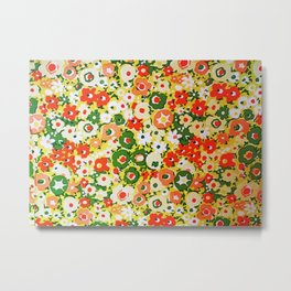 Sunset Garden Pattern No. 1 Metal Print