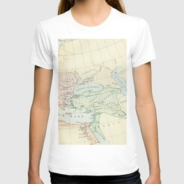 Old Map of The Roman Empire T-shirt