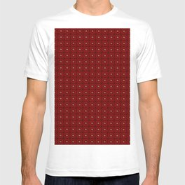 Muster - rote Blumen T-shirt
