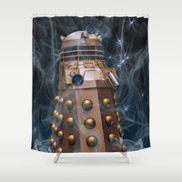 dalek Shower Curtains featuring Dalek by Steve Purnell