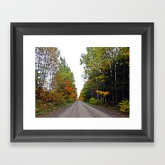 Forest Road in the Fall Framed Art Print