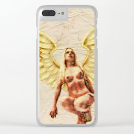 Angel of Love by MB Clear iPhone Case