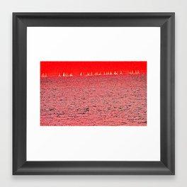 Red Sky At............... Framed Art Print
