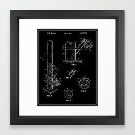 Bong Patent - Black Framed Art Print
