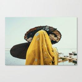 Wedding Sari, Varanasi 2014 Canvas Print
