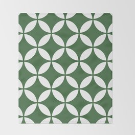 Palm Springs Screen: Kelly Green Throw Blanket