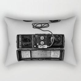 Antique Phone (Black and White) Rectangular Pillow