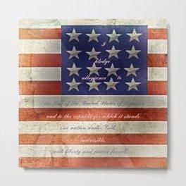 Pledge Metal Print