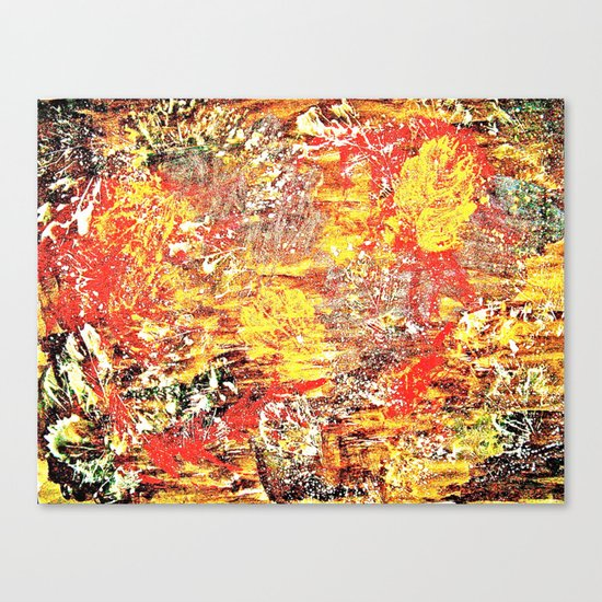 Golden Autumn Abstract Canvas Print