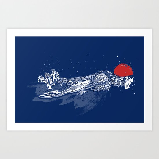 Olympic Swimmer  Art Print